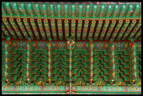 Roof Decoration at Jogyesa Temple in Seoul, South Korea