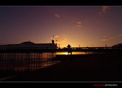 Colours by the Pier (edmundlwk) Tags: sunset england beach silhouette landscape brighton colours brightonpier mywinners canon7d tokina1116mm edmundlim