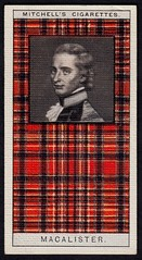 Cigarette Card - Clan MacAlister