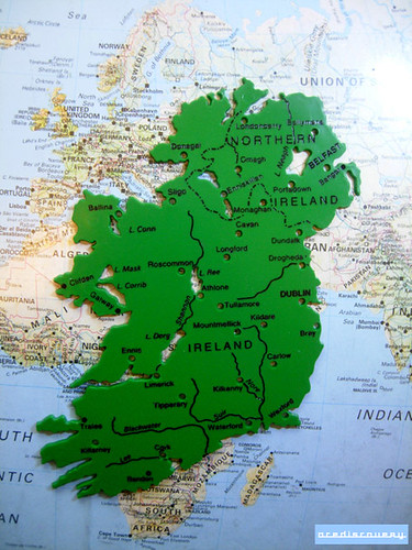 Map stencil of Ireland