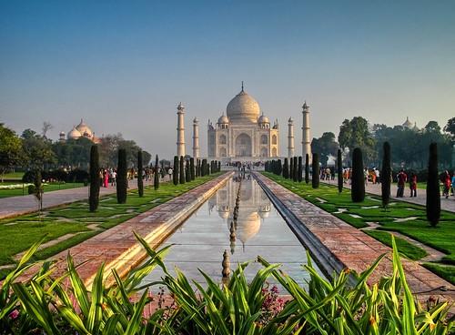 フリー写真素材, 建築・建造物, 廟・墓地, タージ・マハル, 世界遺産, インド, HDR,