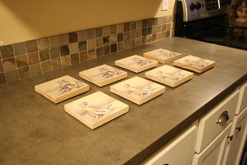 In the workshop - huladollsquidgirl plaques