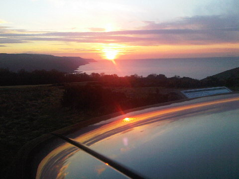 sunset over porlock