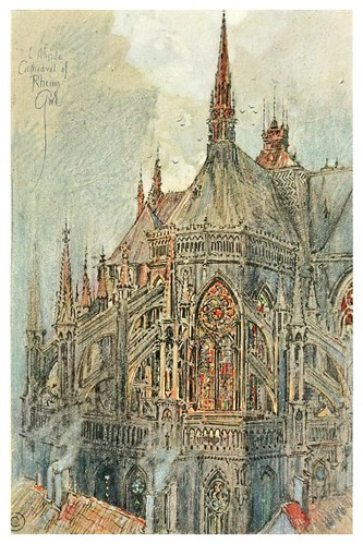 006- Ábside de la catedral de Reims-Vanished halls and cathedrals of France 1917- Edwards George Wharton