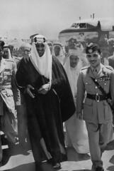 Hussein Ibn Talal [RF: Jordan RF];Saud Ibn Abdul Aziz [RF: Saudi Arabia RF] (K_Saud) Tags: king east jordan countries saudi arabia while middle foreign problems abdul hussein talal rf aziz ibn relations saud timeincown abdula discusing 934977