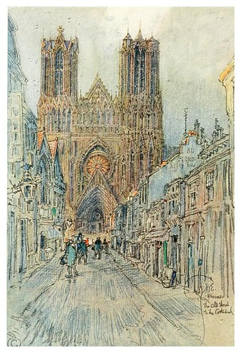 001- Antigua calle de la catedral de Reims-Vanished halls and cathedrals of France 1917- Edwards George Wharton