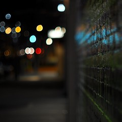 Alley Bokeh (tradewinds>) Tags: light night austin march nikon 55mm sxsw 6thstreet f12 d90 flickrwalk