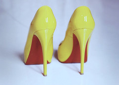 Mad Yellow (heartbreaker [London]) Tags: red fashion yellow high flash christian heels heartbreaker louboutin