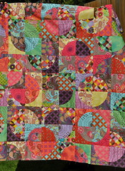 Drunken Bohemian quilt top (Lucy & Norman) Tags: circle quilt top drunkardspath annamariahornerbohemianfabricsewing