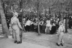 Hussein Ibn Talal [RF: Misc.];Saud Ibn Abdul Aziz [RF: Misc.] (K_Saud) Tags: guests standing lunch during king watch east jordan saudi arabia while guards middle receive abdul hussein talal rf aziz ibn saud timeincown 934982