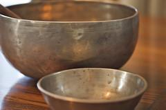 Singing Bowls (Paul in Japan) Tags: bronze singing buddhism bowl tibet ornament meditation