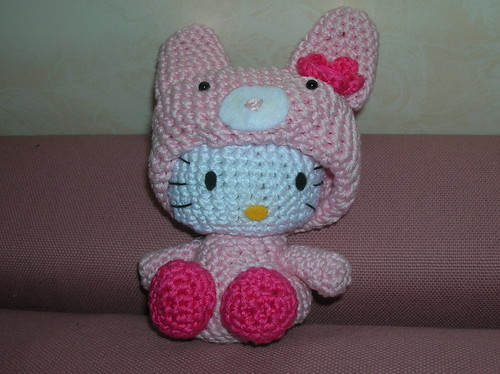 Hello kitty in a bunny suit