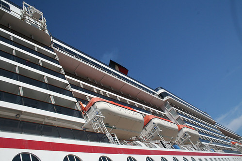 Carnival Spirit - Looking up at Extended Balconies (Starboard)