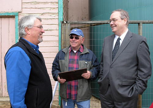Pictured (left to right) is John Dover, honorary utility board member, Ron Weien, Board President and Under Secretary Dallas Tonsager.