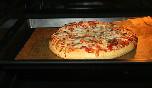05 - Pizza im Ofen