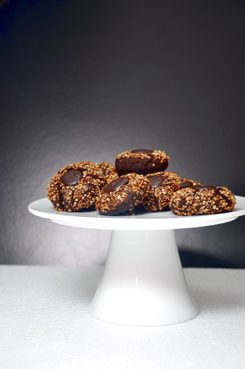 corn bits chocolate thumb cookies 1