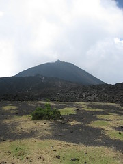 Pacaya Framed by Lava Rock