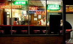 3402 W. Belmont Ave. (GXM.) Tags: street urban chicago neon raw belmont cook diner latenight hamburger avondale logansquare atm chicagoatnight kimball chicagoist gxm latenightdiner shortorder gpblock latenightchicago gabrielxaviermichael