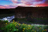 Sunk in the well (Vinnyimages) Tags: sunset canon washington northwest tripod canon5d washingtonstate palouse easternwashington canon1740l palousefalls singhraylbcolorcombo djvinnyspics vinnyimages wwwvinnyimagescom vinnyimagescom