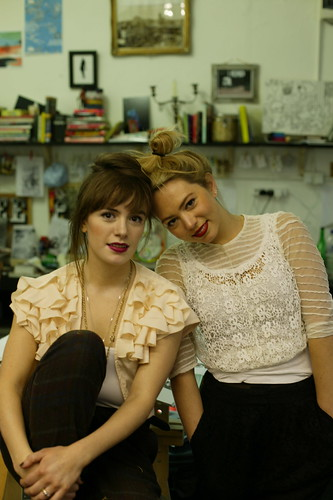 Harriet and Polly at their studio