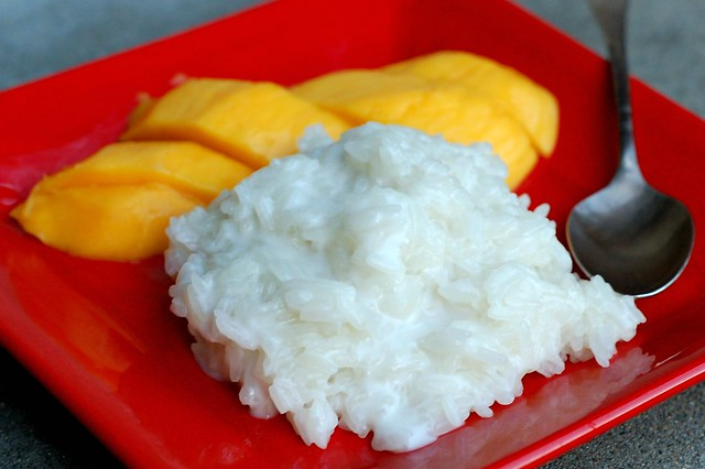 Sticky rice with mango by Eve Fox, Garden of Eating blog
