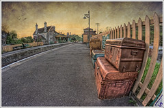 144/365 - HDR - Corfe.Castle.Train.Station.Texture.@.1150x766 (Pawel Tomaszewicz) Tags: uk light sunset shadow wallpaper england sky fish eye castle art texture colors beautiful station architecture clouds train photoshop canon lens eos photo high europe view angle image photos dusk wide picture wideangle ps images x fisheye textures dorset definition 1200 corfe range 800 hdr fable hdri anglia iphone pawel zachd soca cs3 ipad kolej architektura chmury 3xp photomatix greatphotographers wyspa kolejowa stacja 400d wyspy eos400d 1200x800 photoshopcs3 tomaszewicz paweltomaszewicz