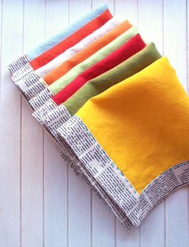 sewtakeahike: linen napkins {a tutorial}
