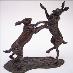 Boxing Hares by Lucy Kinsella