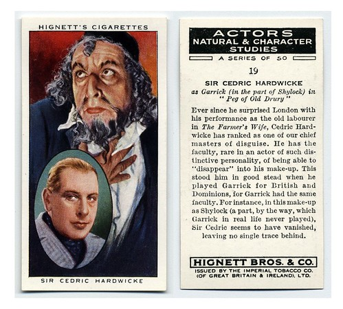 005-Sir Cedric Hardwicke as Garrick in the part of Shylock in 'Peg of Old Drury'. ca. 1933-1939