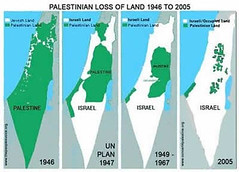 Palestinian Loss of Land 1946 to 2005