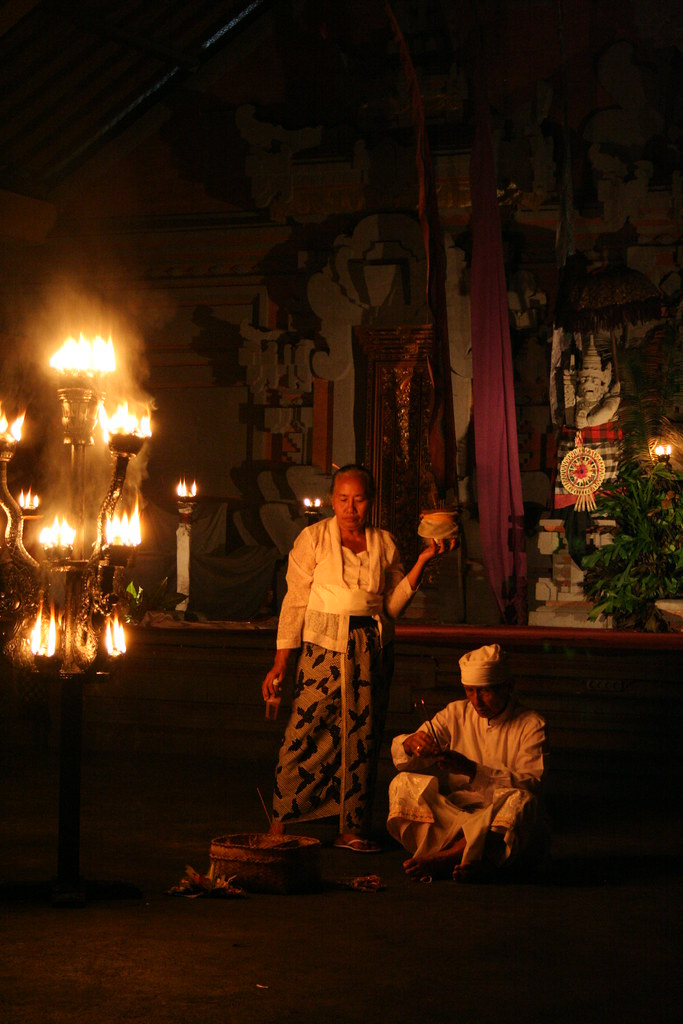 Ceremony before Kecak Dance