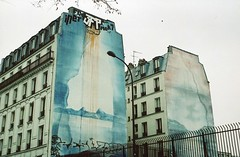 3fp (Adele M. Reed) Tags: paris france film 35mm canon eos mural kodak 200 prelachaise