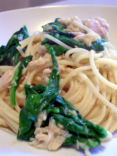 ... first fruits of my labor | Pasta with Tuna and Garden Fresh Arugula