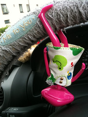 Alyss hanging up side down from steering wheel (onion.bunny) Tags: angie ewing wonderfrog