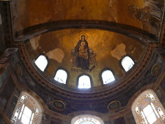 In the restoration work Christian iconography was discovered and preserved. (Dippingmytoes) Tags: holiday art turkey culture istanbul tradition hagiasophia