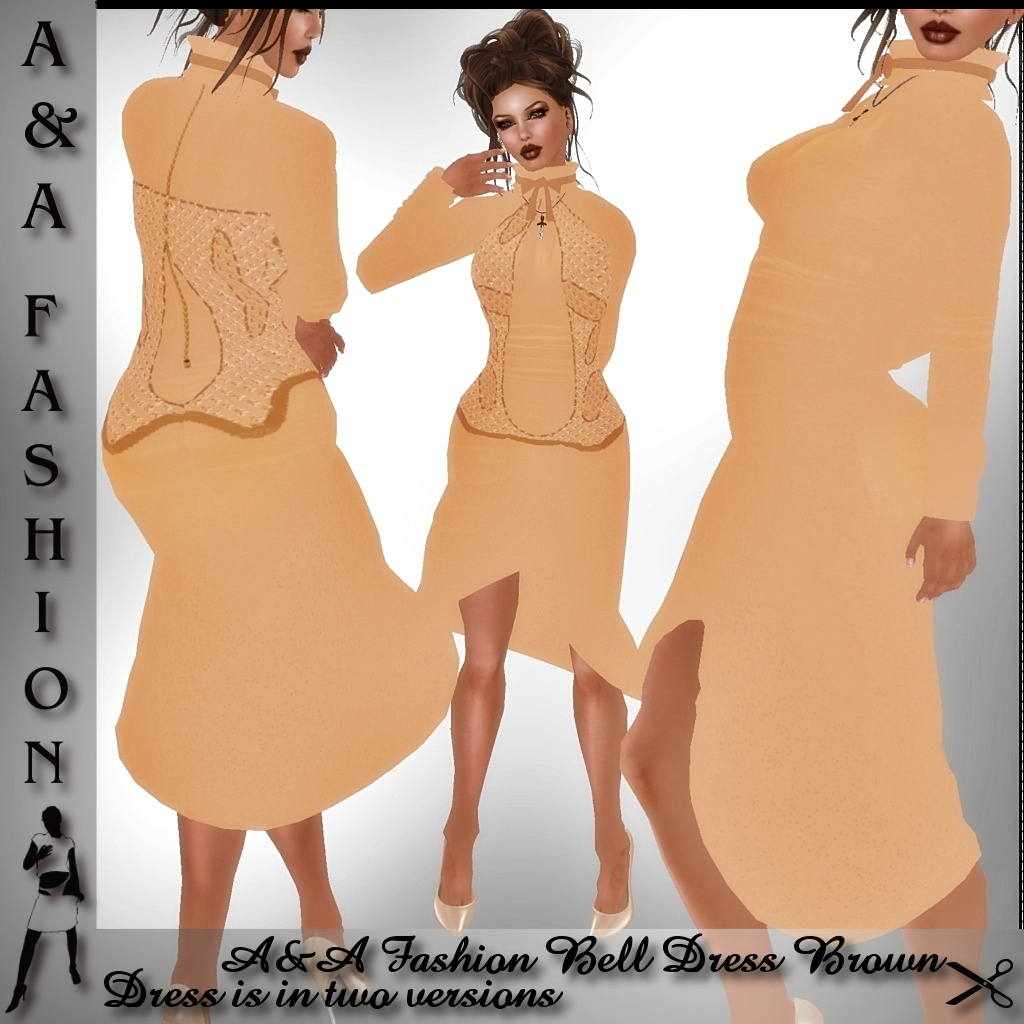 A&A Fashion Bell Dress Brown