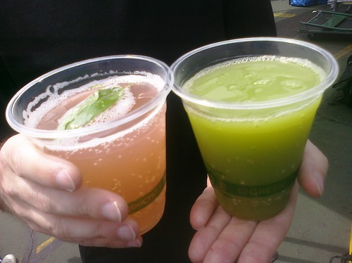 Rhubarb basil soda and cucumber lime sea by jenny8lee, on Flickr