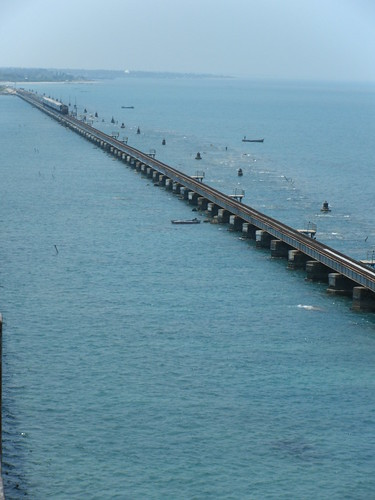 Long View of The Pamban Bridge