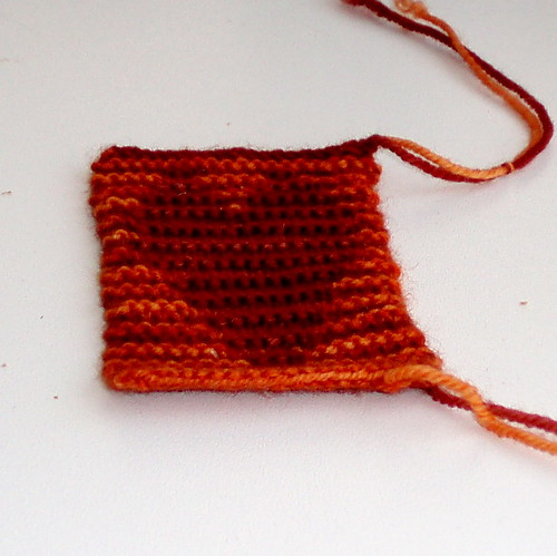 malabrigo illusion knitting swatch