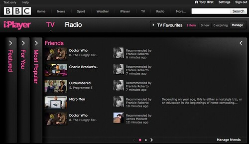 BBC iPlayer friends