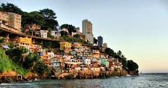 Two sides of a penny (Diego Viana Gomes) Tags: poverty city brazil architecture de museu arte rich poor salvador wealthy mam slum corredor moderna ginga contorno moradadoscardeais davitoria