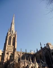 Grace Church (fede_gen88) Tags: newyorkcity blue sky usa newyork tower church america us unitedstates spires gothic broadway grace greenwichvillage gothicrevival jamesrenwickjr