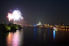 Fireworks over Cologne