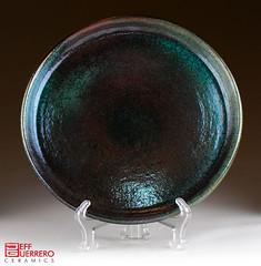 raku plate (guerrero.ceramics) Tags: ceramic pottery raku stoneware
