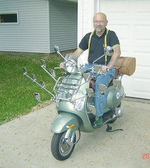 me and green Vespa-4 (old_hippie_1954) Tags: bear gay green vespa bald scooter suspenders poloshirt shavedhead docs skinhead drmartens docmartens dms gayskinhead lxv150 docmartensboots docmartans