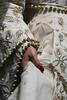 gold dress gold wedding dress white detail gold detail photo