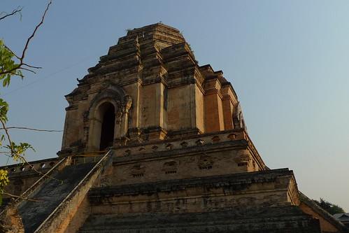 泰国清迈古城的大塔寺