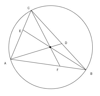 Triángulo y circunferencia circunscrita