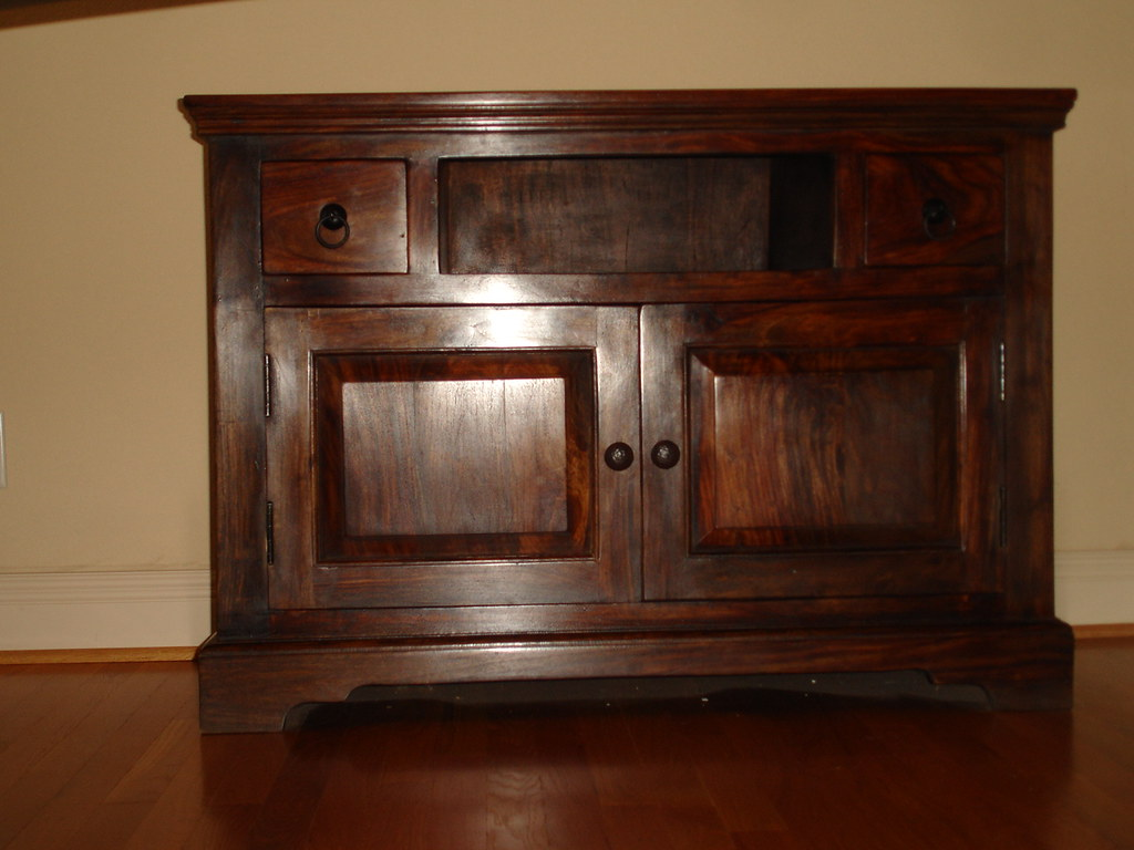Sideboard with drawers in solid rose wood