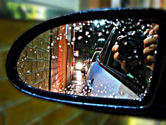 Rainy Mid-Night Snack (MSVG) Tags: toronto ontario canada reflection canon drive mirror is powershot mcdonalds drivethru through hyundai accent 2007 s5 thru mcds s5is
